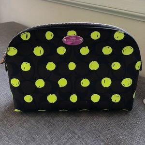 FLASH SALE Coach Neon Dot Signature Cosmetic Bag